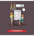 Business collection conference concept vector image