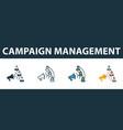 campaign management icon set premium symbol in vector image vector image