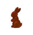 chocolate bunny rabbit candy easter treat sweets vector image