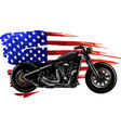 chopper motorcycle with american flag vector image vector image