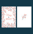 christmas cards with branches vector image