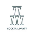 cocktail party line icon cocktail party vector image vector image