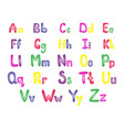 colorful english alphabet vector image