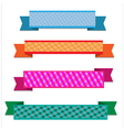 Colorful ribbon vector image vector image