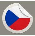 Czech Republic flag on a paper label vector image
