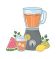 delicious healthy smoothie cartoon vector image vector image