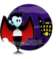 dracula and her castle vector image