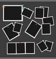 empty photo frames attached with pins set vector image vector image