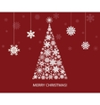 Fir tree from white snowflakes vector image