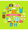 Flat Style Summertime Travel Concept vector image vector image