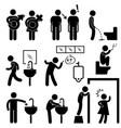funny public toilet concept icon symbol sign vector image vector image