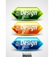 glossy labels vector image
