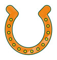 golden horseshoe luck good icon vector image