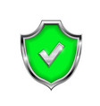 green shield sign accept 3d symbol isolated vector image