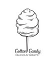 hand drawn cotton candy vector image vector image