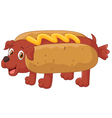 Hot Dog Cartoon Character vector image vector image