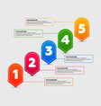 infographics elements five steps process vector image