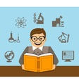 learning and self-development vector image vector image