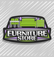 logo for furniture store vector image