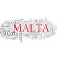 malta word cloud concept vector image vector image