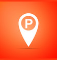 map pointer with car parking sign isolated vector image vector image