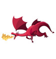 medieval kingdom character isolated dragon who vector image vector image