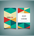 modern business card design 1008 vector image vector image