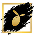olive sign golden icon at vector image vector image