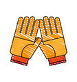pair of gloves icon image vector image