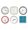 realistic clocks modern wall clocks business vector image vector image
