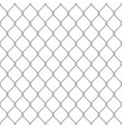 realistic glossy metal chain link fence seamless vector image vector image