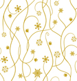 Seamless pattern wallpaper with snowflakes vector image
