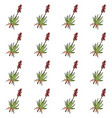 seamless pattern with hand drawn aloe vera vector image vector image