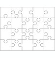 separate parts of white puzzle vector image vector image