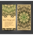 Set retro business card Card or invitation vector image vector image