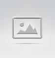 Silver metal image symbol vector image vector image