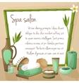 Spa salon background vector image vector image