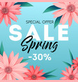 spring sale banner special offer advertising vector image vector image