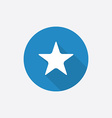 star Flat Blue Simple Icon with long shadow vector image vector image