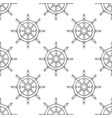 steering wheel seamless pattern outline hand vector image vector image