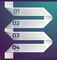 strip of white paper composition vector image