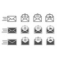 symbols of receiving mail opening envelope vector image