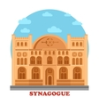 Synagogue or synagog architecture building vector image