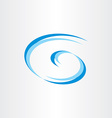 water wave g spiral letter g icon design vector image