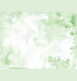 watercolor texture background green color vector image