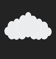 web white clouds vector image vector image