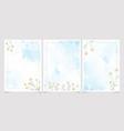 white chamomile on blue watercolor splash vector image vector image