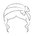 woman hairstyle fashion vector image vector image