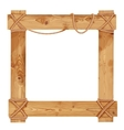 Wooden frame fastened together with ropes vector image vector image