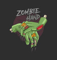 zombie hand corpse nightmare rising vector image
